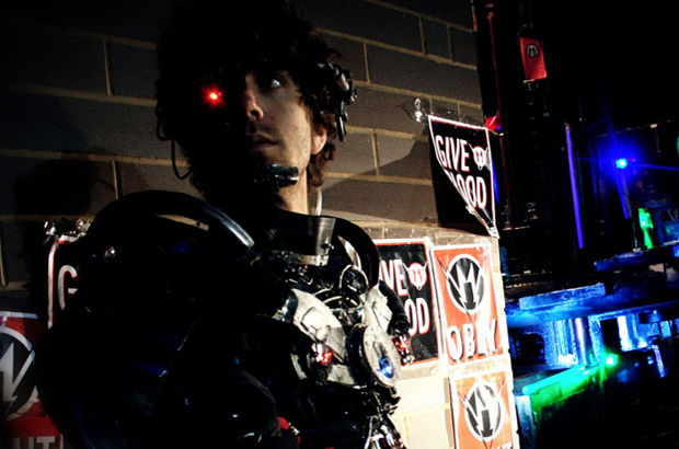 "Matthew Kennedy in ""Manborg."""